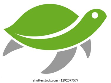 Turtle leaf abstract design vector
