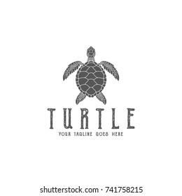 Turtle. Logo. Abstract animal. Sea life