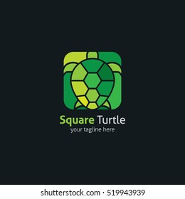 Turtle Logo abstract design vector template. vector Illustration