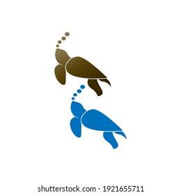 Turtle logo icon vector template illustration design