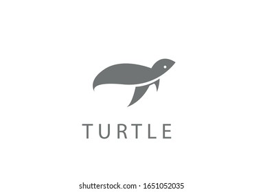 Turtle logo inspiration vector template