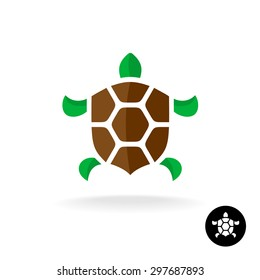 Turtle logo with shield shaped shell