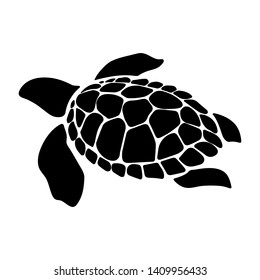 Turtle marine animal illustration. Simple illustration of turtle marine animal vector icon for web design isolated on white background
