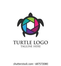 Turtle protection logo design concept