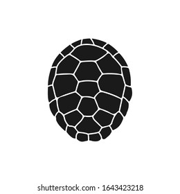 turtle shell icon. Vector illustration isolated o white background