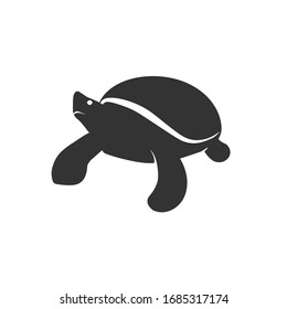 Turtle silhouette logo mascot illustration animal nerd knowledge genius learning study sea ocean reptile marine vector shell cute dive cartoon funny