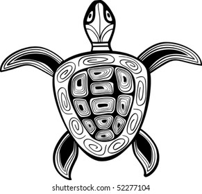 Turtle a silhouette vector illustration