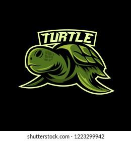 Turtle sport logo illustration vector / Esport