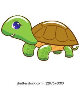 turtle walking clipart
