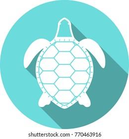 turtle white silhouette vector icon