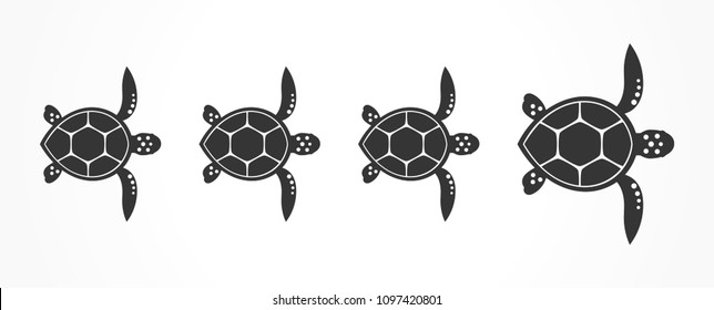 Turtles family. Vector illustration