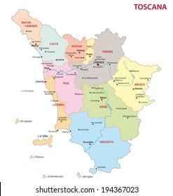 tuscany administrative map