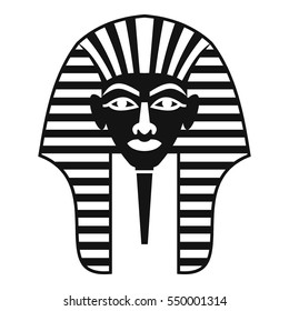 Tutankhamen mask icon. Simple illustration of Tutankhamen mask vector icon for web