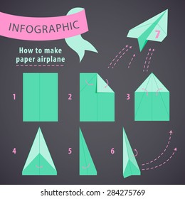 Paper Plane Instructions Images, Stock Photos & Vectors