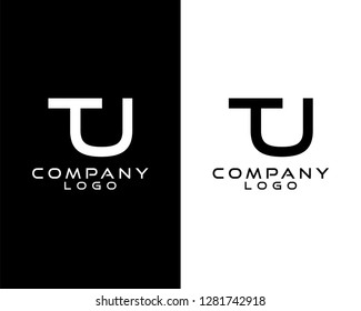 tu/ut  initials company logo vector