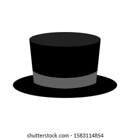 tuxedo hat icon. old fashion clothes. Vector illustration