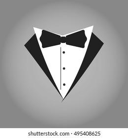 Tuxedo Logo. Isolated