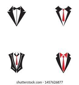 Tuxedo Man Logo Symbols Black Icons Template