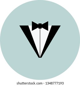 Tuxedo vector icon eps 10. Suit and bow illustration.