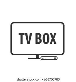 tv box icon. Vector illustration isolated on white background