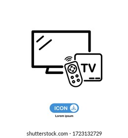 tv box icon vector isolated on white background.
