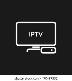 TV box / IPTV vector icon.
