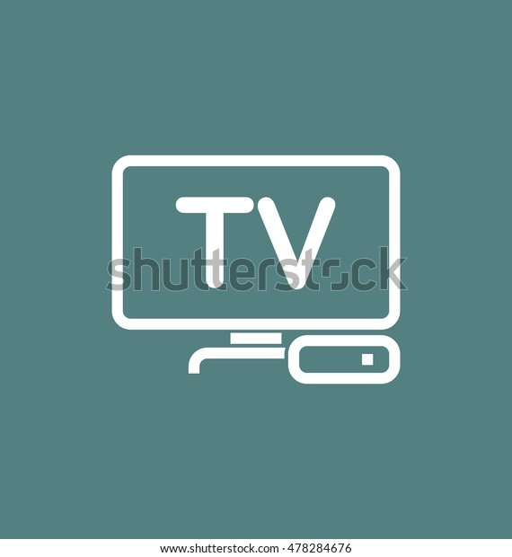 Tv Box Iptv Vector Icon Stock Vector (Royalty Free) 478284676
