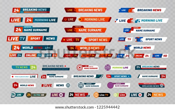 Tv Broadcast Title Television Broadcasting Channels Stock