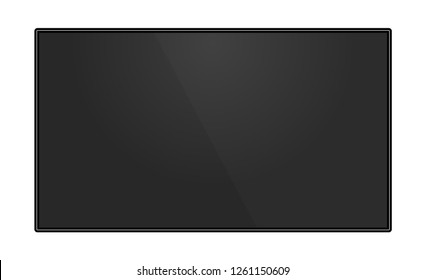 TV flat screen lcd plasma. Vector illustration.