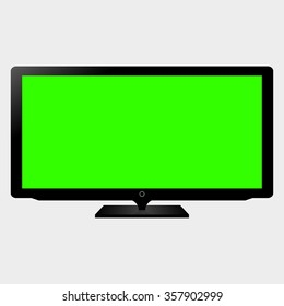 TV flat screen lcd, plasma realistic. Vector illustration.