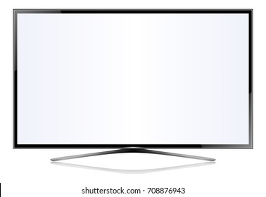 TV flat screen lcd plasma vector illustration