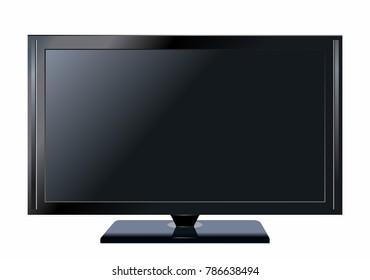 TV flat screen lcd plasma realistic vector illustration