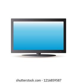 TV flat screen. Plasma realistic TV. Vector illustration. EPS 10.