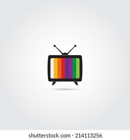 TV icon - Vector