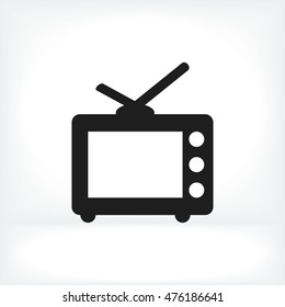 TV icon, vector best flat icon, EPS
