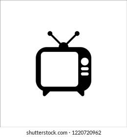 TV icon vector eps10 editable