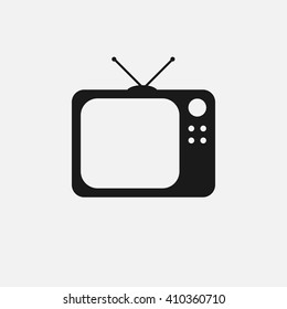 tv icon vector, solid illustration, pictogram isolated on white