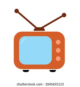 tv icon, vector television screen illustration, video show, entertainment symbol