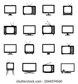 TV icons set