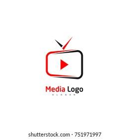 TV And Media Logo Vector,