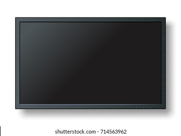 TV, modern blank screen lcd, led, isolate on background