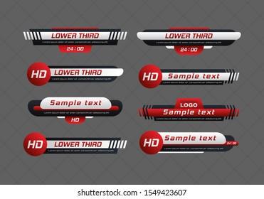 Tv news bar.  Lower Third TV News Bars Set Vector. Television broadcast media title banner. Digital callouts titles.