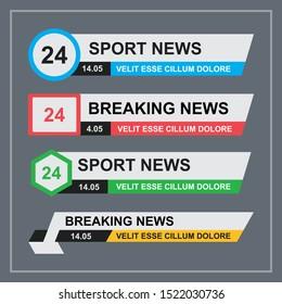 TV News Bars Set Vector eps