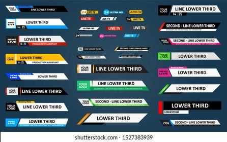 TV News Bars Set Vector. News Lower Thirds Pack