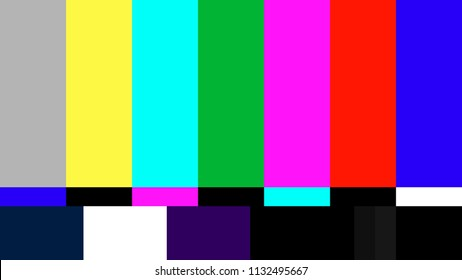 Tv no signal footage background Color bar rgb static screen for video 16:9  Full HD, 4K, 8K, resolutions vector illustration