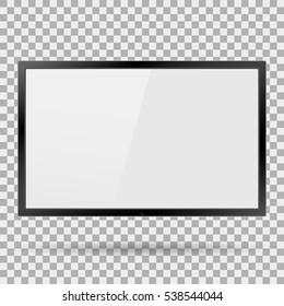 TV plasma, modern blank screen lcd, led, on isolate background, stylish vector illustration EPS10