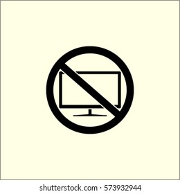 TV prohibition vector icon