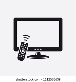 TV with remote control icon