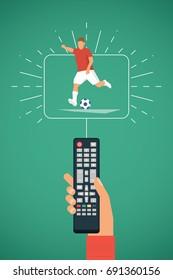 Fussball Gucken Tv Stock Vectors Images Vector Art
