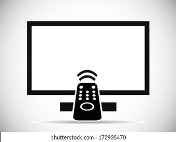 TV And Remote Illustration